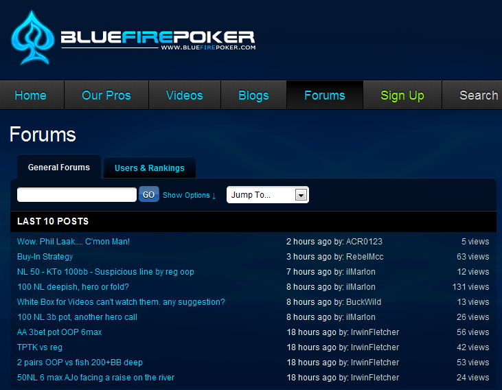 bluefire poker