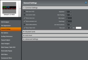 Site setting holdem manager 2