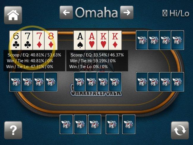 Omaha poker calc