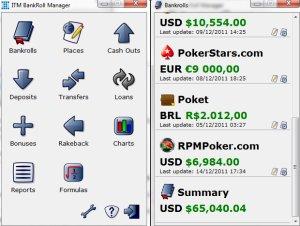 Poker software bankroll