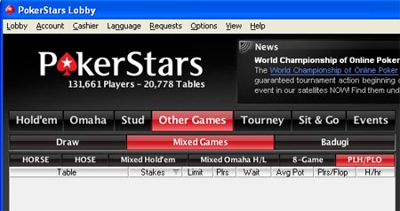 pokerstars software update